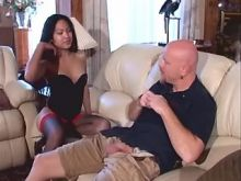 Sensual beautiful asian shemale does fine blowjob